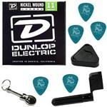 Encordoamento para Guitarra 011 050 Dunlop DEN1150 Med Heavy + Acessórios IZ1