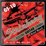 Encordoamento para Guitarra 6 Cordas Nickel Wound Light Strinberg Gs-10