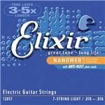 Encordoamento para Guitarra 7 Cordas Elixir (.010-.056) Nanoweb 12057