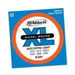 Encordoamento para Guitarra Jazz Extra Ligh Ej-20 - D Addario