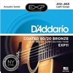 Encordoamento para Violão 012 Aço Daddario Bronze Exp11