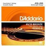 Encordoamento para Violão Aço Ez900-b Extra Light Gauge 010-050 D'addario