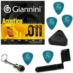 Encordoamento para Violão Aço Giannini 011 052 GESPW + Acessórios IZ1