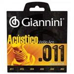 Encordoamento para Viol�o Gespw S�rie Ac�stico A�o 0.11 Giannini