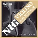 Encordoamento para Violino Nig Lisas/flat Wound Nve804