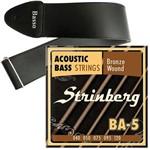 Encordoamento Strinberg Baixolão de 5 Cordas 040 BA5 + Correia Basso