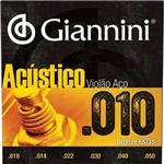 Encordoamento Violao Aco 010-050 Geswam Giannini
