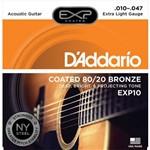 Encordoamento Violão Aço Daddario Exp10 010 - 047 Coated