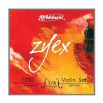 Encordoamento Violino - Zyex D'addario - 3/4 - Medium Normal - #3140.550.27-AT310