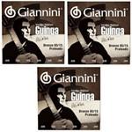 3 Encordoamentos Giannini de Violão Nylon Sscgg Guinga