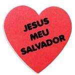Enfeite de Antena para Carro Coração Jesus Meu Salvador