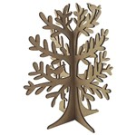 Enfeite de Mesa em MDF Árvore Pássaros e Coelho 20x18x18cm - Palácio da Arte