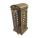 Enfeite de Mesa em MDF Cabine Telefônica Londres 20,5x8,7x8,7cm - Palácio da Arte