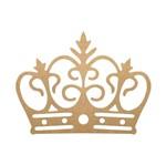Enfeite de Parede Coroa Vazada Pequena 30x23 - MDF