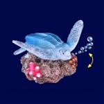 Enfeite Duo Soma Fish Mini Tartaruga Azul para Aquário Único