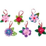 Enfeite Florzinhas Coloridas em Tecido, 6 Peças - Christmas Traditions