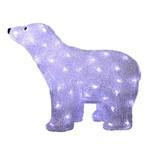Enfeite Iluminado Urso de Acrilico com 80 Lampadas de Led