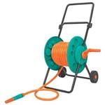 Enrolador Plástico de Mangueira 1/2 Tramontina com Braço Metálico e Rodas de Plástico