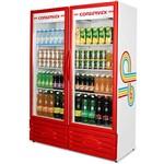 ERV-850 Expositor Refrigerado Vertical Vermelho Conservex