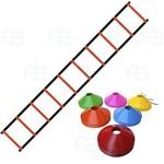 Escada + 10 Pratos P/ Funcional Agilidade ( Chapéu Chines )