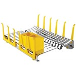 Escorredor de Louça de Aço Inox Amarelo Plurale