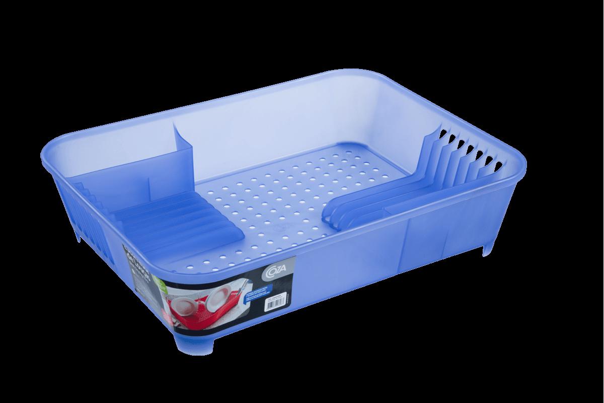 Escorredor de Louças Basic 45 X 35 X 10,5 Cm Azul Coza