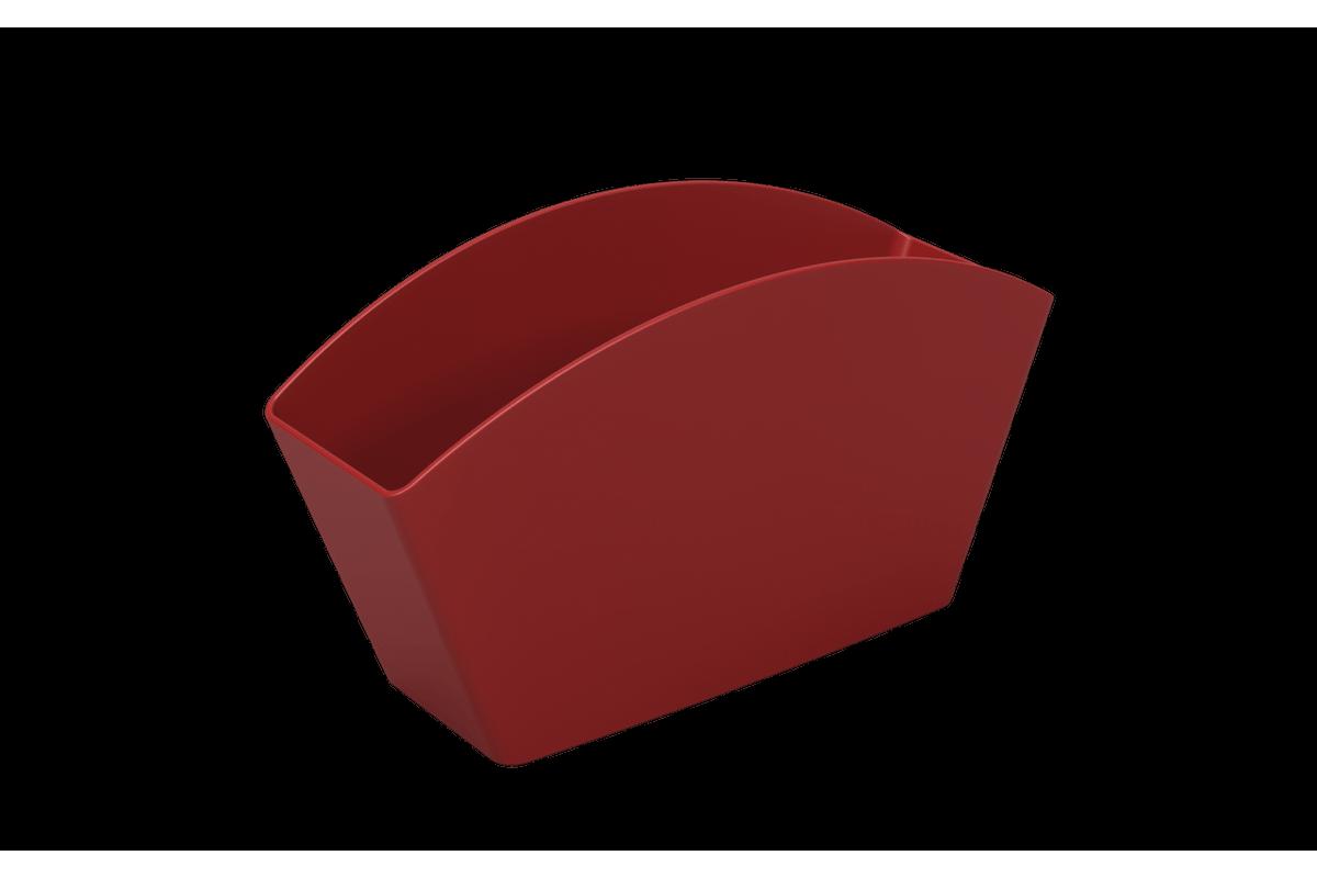 Escorredor de Talheres Basic 21,5 X 10,6 X 4,5 Cm Vermelho Bold Coza