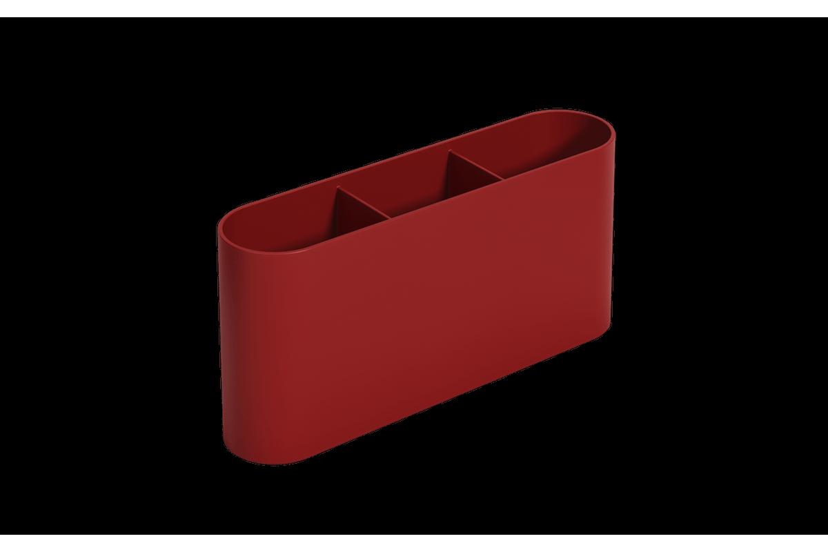 Escorredor de Talheres Flat 6 X 23,5 X 10 Cm Vermelho Bold Coza
