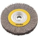 "Escova de Aço Inox Circular 6"" X 1/2"" X 1/2"" - Vonder"