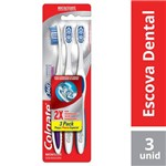 Escova Dental Colgate 360º Luminous White Macia C/3 Unidades