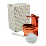 Escova Sanitária com Suporte em Cerâmica