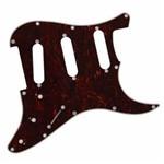Escudo Guitarra Strato Sss Preto 1 Camada Dolphin