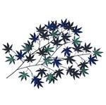 Escultura de Parede Folhas Azul