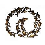 Escultura de Parede Peixes Metal 75cm - Occa Moderna