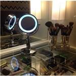 Espelho de Mesa com Luz Led Metal Penteadeira Luxo