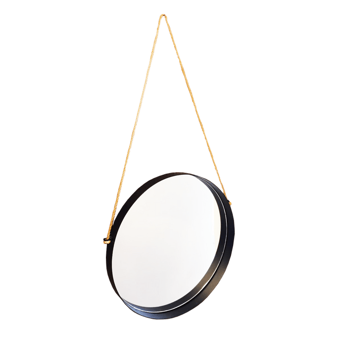 Espelho Decorativo Circle Black 46,5 Cm