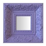 Espelho Moldura Rococó Fundo 16223 Lilás Art Shop