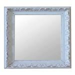 Espelho Moldura Rococó Raso 16170 Branco Patina Art Shop