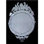Espelho Veneziano Cisne 90cm - Moldura em Vidro Trabalhado