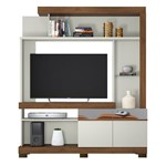 "Estante Home Copacabana para TVs de 50"" - Off White/Nogueira"