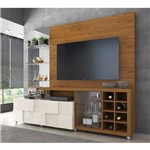 Estante Home New Turati Tv 65 Polegadas em Carvalho Americano Off White DJ Moveis