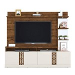 Estante Home para Tv Até 65 Polegadas Fiori Moderno Prime Dj Móveis Rústico Malbec/off White