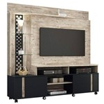 Estante Home Theater Vitral Aspen/preto Hb Móveis