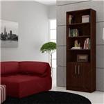 Estante para Livros Bl 03-49 - Duas Portas - Tabaco em Mdp - 182,5x62 Cm