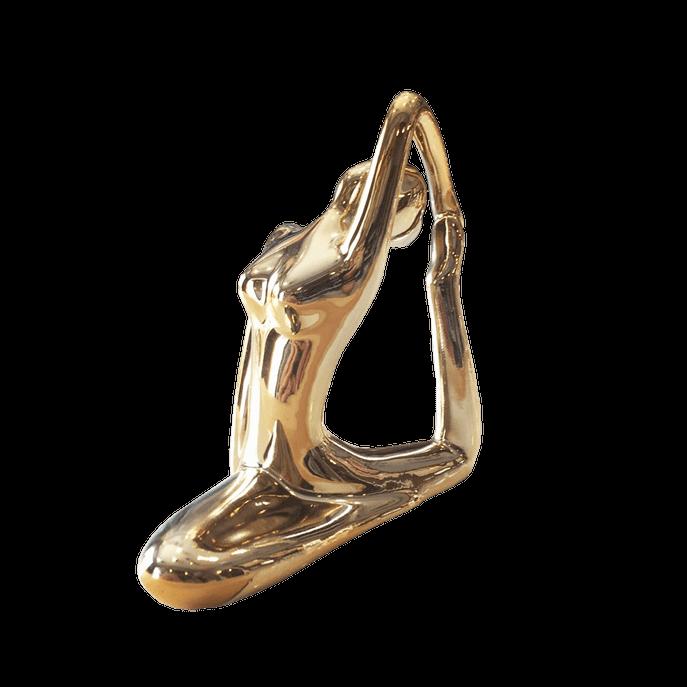 Estátua Yoga Dourada Dourada