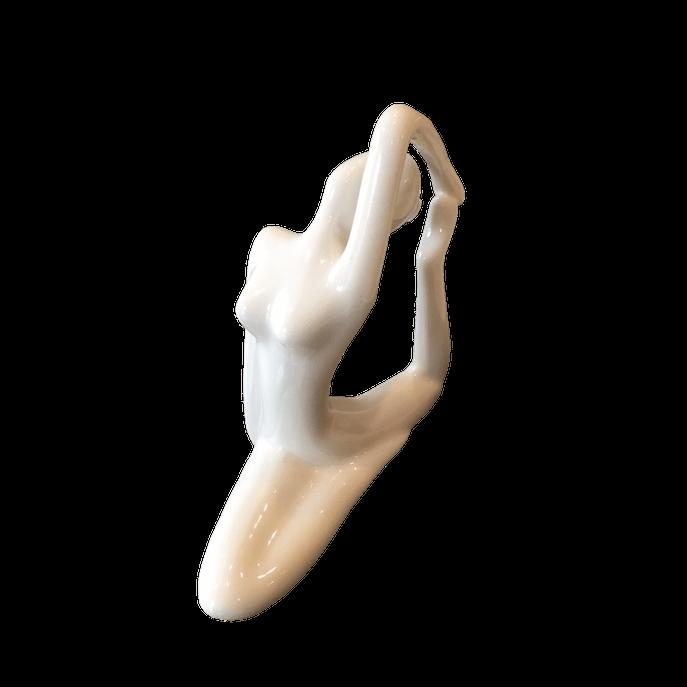 Estátua Yoga Pombo Branca Branco