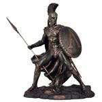 Estatueta Rei Leônidas de Esparta Cor Bronze.
