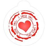 Estêncil para Pintura Redondo 10x10 Selo Love - Opa1127 - Opa