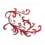 Estêncil para Pintura Simples 20x25 Arabesco Galo - Opa1761 - Opa
