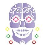 Estêncil para Pintura Simples 20x25 Caveira Mexicana - Opa1180 - Opa